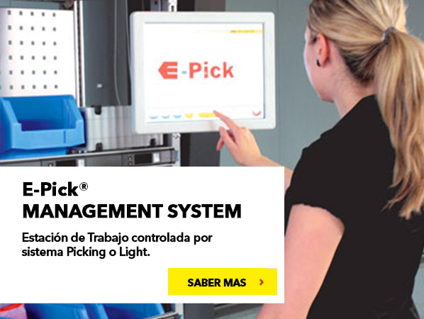 E-PICK. Cost-Effective Order Picking Workstation Controlled by Pick to Light.